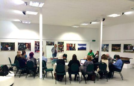Sian Williams leading flash fiction workshop KTC 26 June 2016