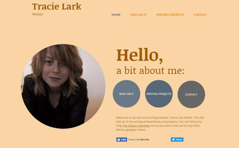 Tracie Lark writer website snapshot.PNG